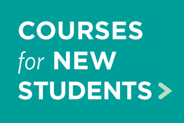 Learn about courses for new students.